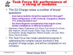 task force s2 performance of a string of modules