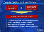 financial flexibility for growth strategy