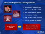 improved experience driving demand
