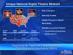 unique national digital theatre network