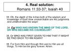 4 real solution romans 11 33 37 isaiah 402