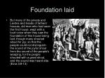 foundation laid