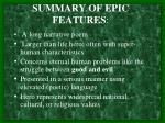 summary of epic features
