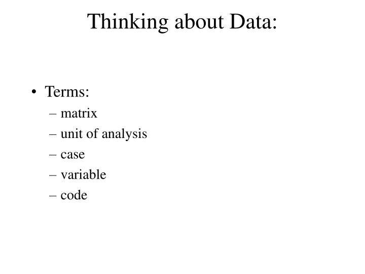 thinking about data n.
