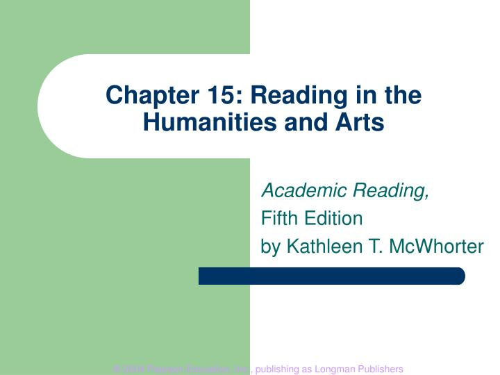 chapter 15 reading in the humanities and arts n.