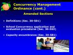 concurrency management ordinance cont