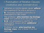 punctuation of relative clauses restrictive and nonrestrictive