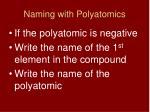 naming with polyatomics