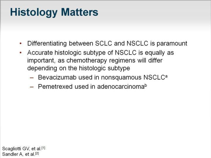 Histology matters