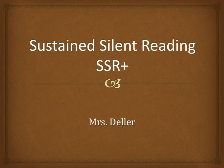 sustained silent reading ssr n.