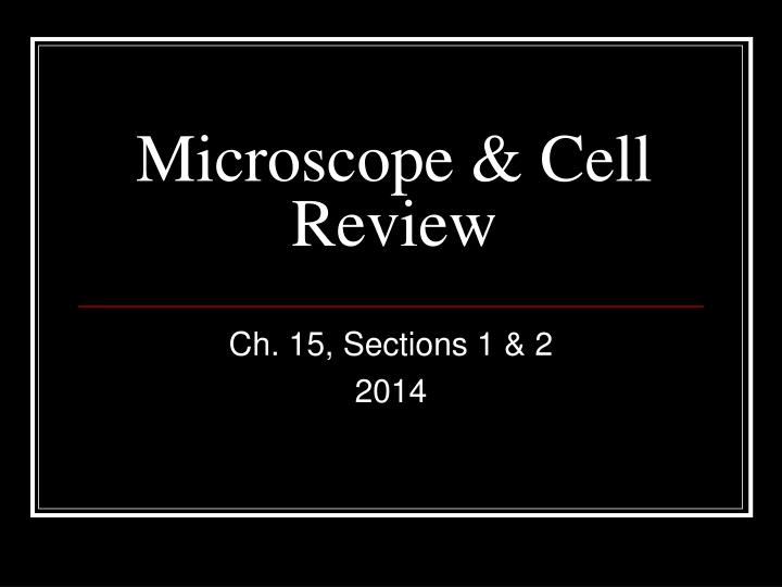 microscope cell review n.