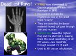 deadliest rays