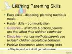 learning parenting skills