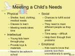 meeting a child s needs