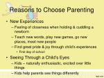 reasons to choose parenting1