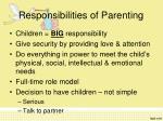 responsibilities of parenting
