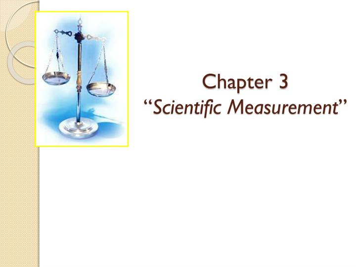 chapter 3 scientific measurement n.