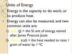 units of energy