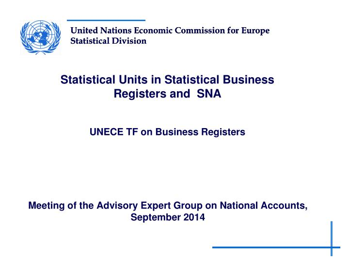 meeting of the advisory expert group on national accounts september 2014 n.