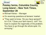 paisley farms columbia county long island new york times september 29