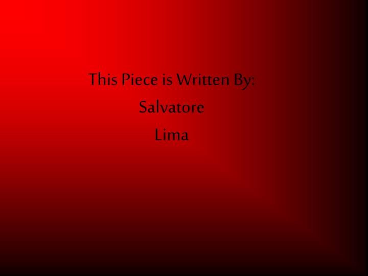 this piece is written by salvatore lima n.