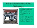 railroad improvements and technology