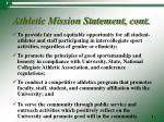 athletic mission statement cont
