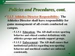 policies and procedures cont3