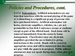 policies and procedures cont6