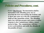 policies and procedures cont9