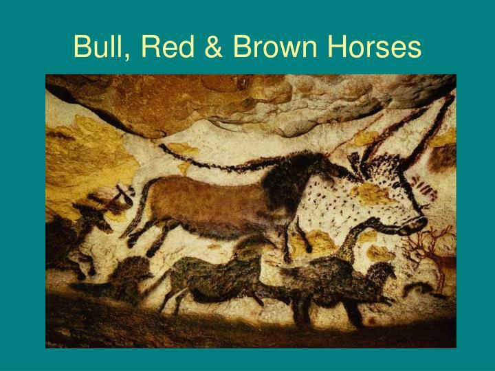 Bull, Red & Brown Horses