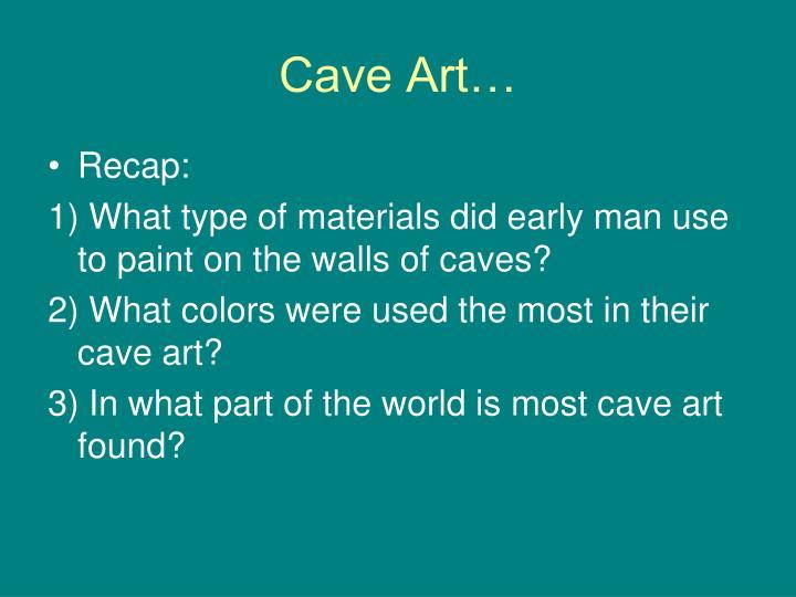 Cave Art…