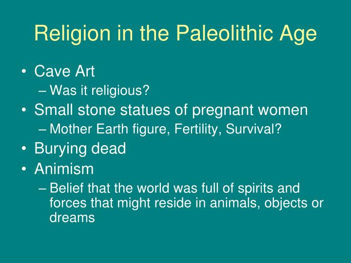 Religion in the Paleolithic Age