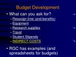 budget development1