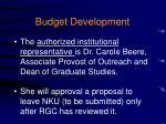 budget development4