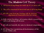 the modern cell theory