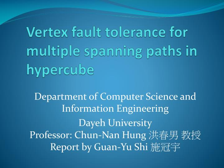 vertex fault tolerance for multiple spanning paths in hypercube n.