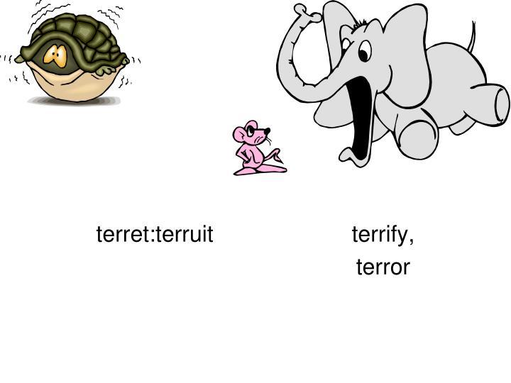 terret:terruitterrify,