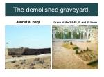 the demolished graveyard