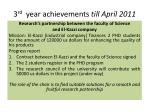 3 rd year achievements till april 20111