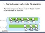 1 computing pairs of similar file revisions
