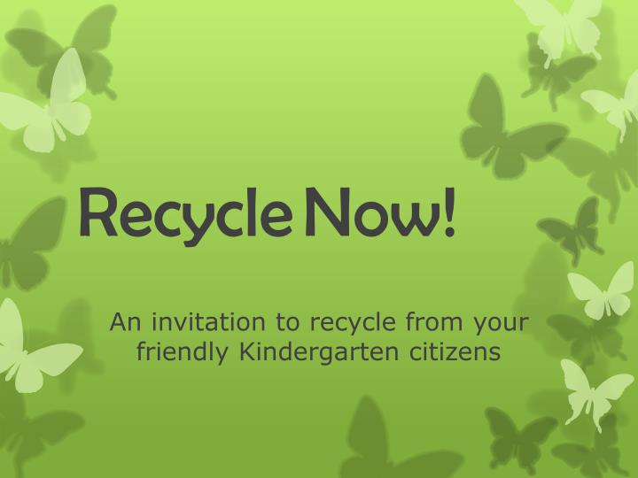 recycle now n.