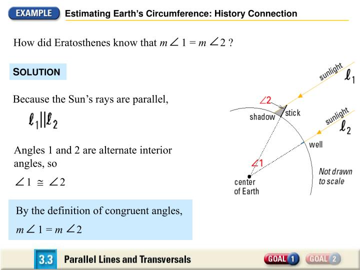 Estimating Earth's Circumference: History Connection
