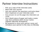 partner interview instructions