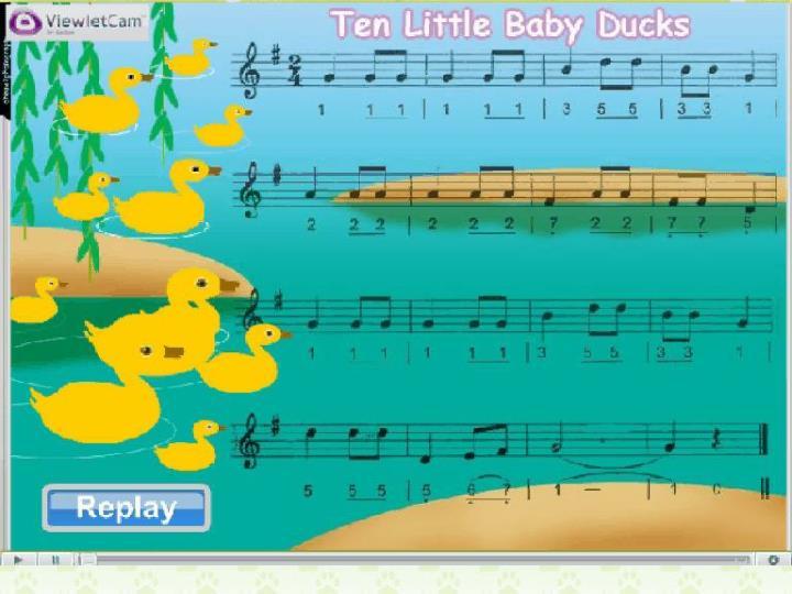 Let's sing: Ten Little Baby Ducks