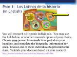 paso 1 los latinos de la historia in english