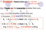 ii grammar passive voice with it is said that people say that