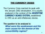 the currency crisis