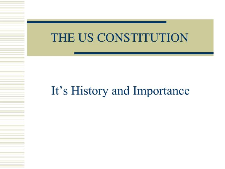the us constitution n.