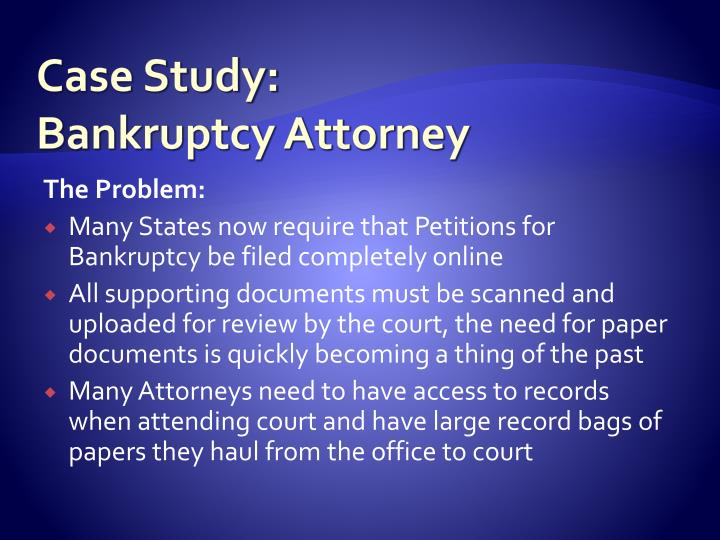 case study bankruptcy attorney n.